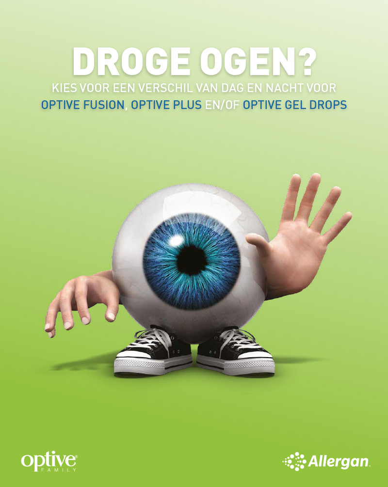 Allergan advertentie vloerdisplay of counterdisplay