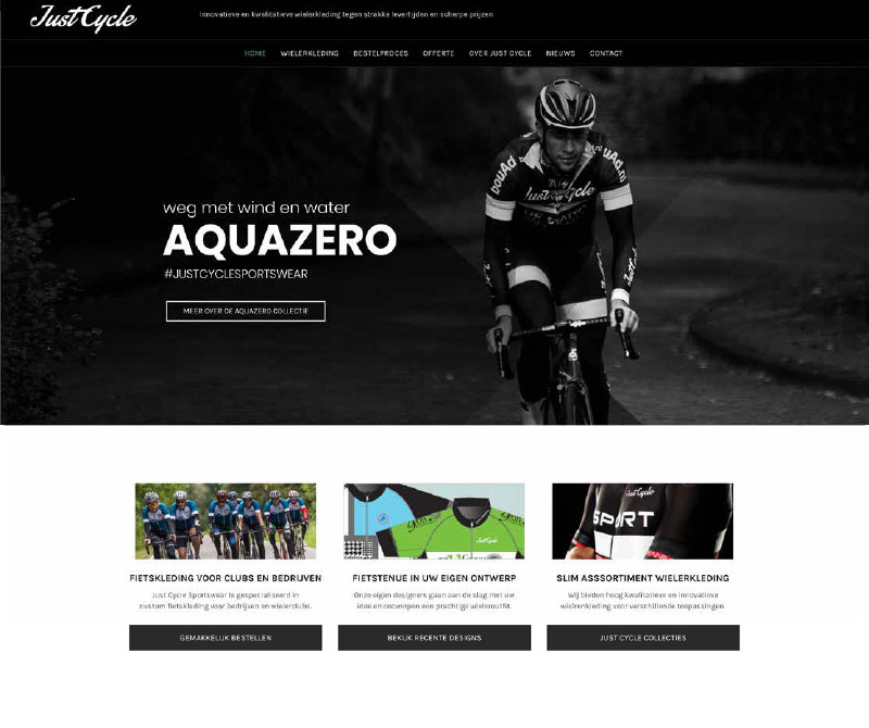 Just Cycle webdesign