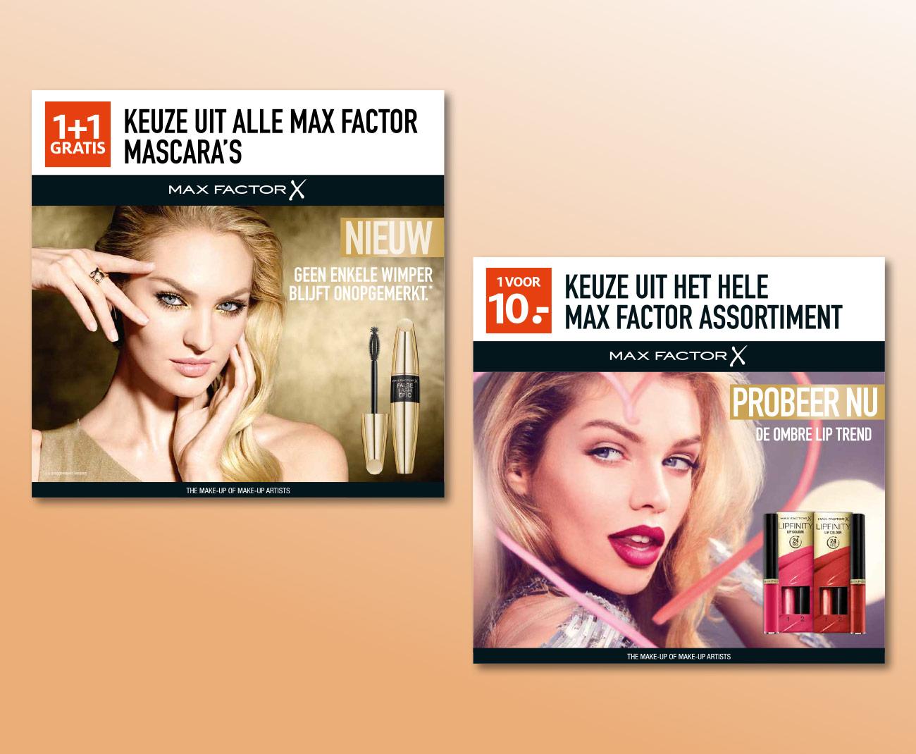 Max Factor topkaart kartonnen displays