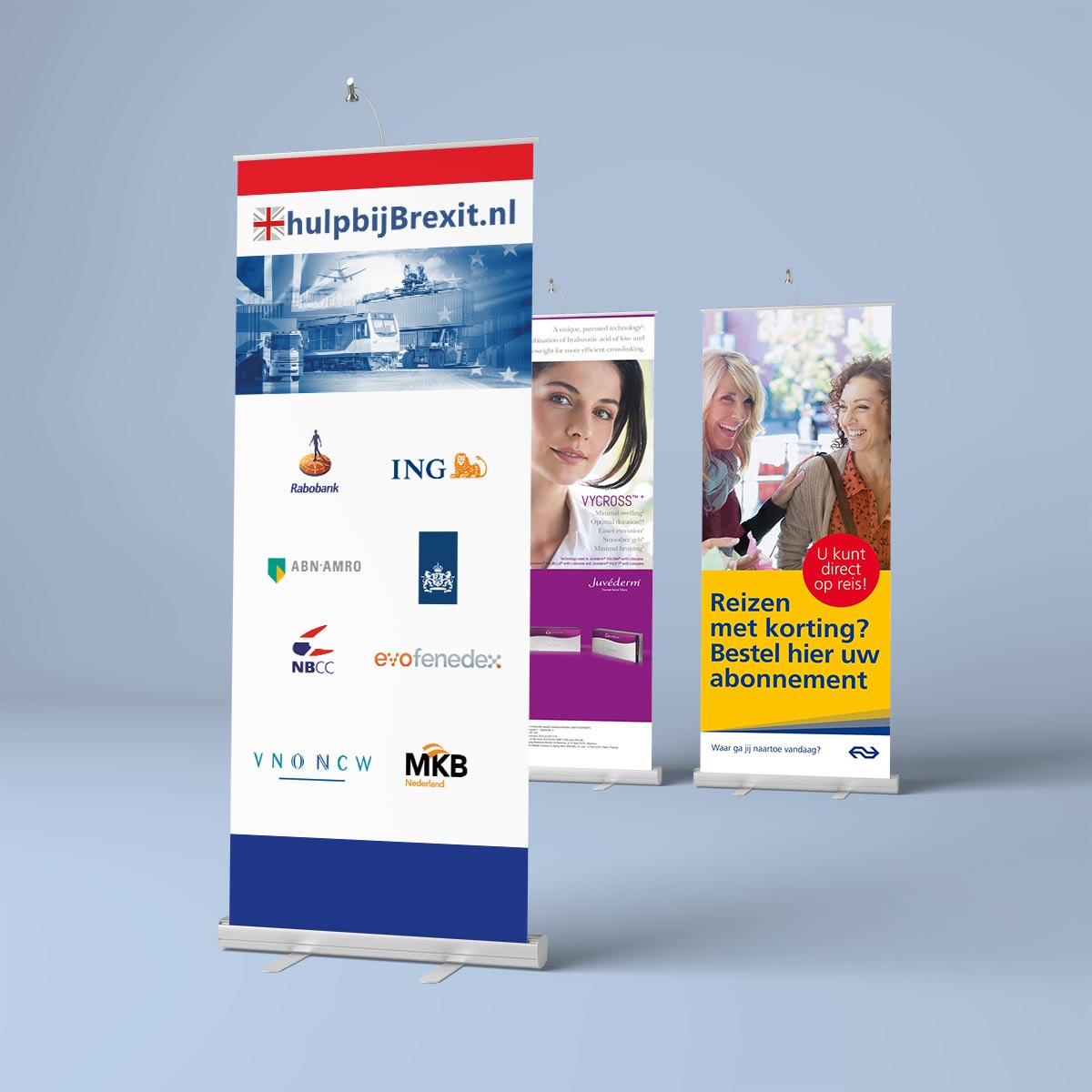 Tovision roll-up banner displays