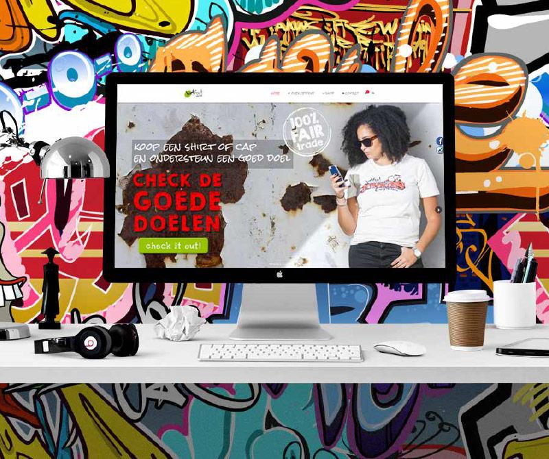 VetFout WordPress website en portretfotografie van jongen en meisje op mobiel