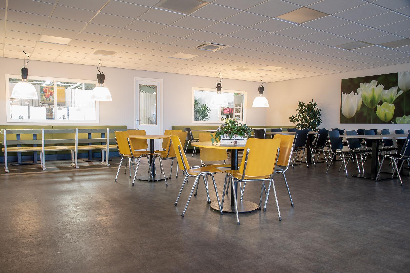 Fotografie projectinrichting ruimte met gele stoelen