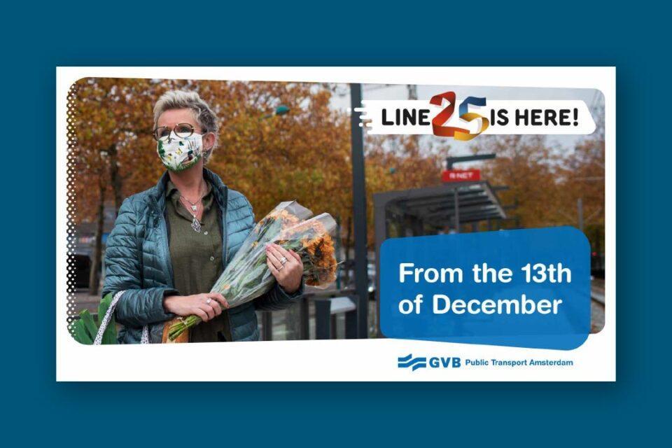 online banner opening Lijn 25 - Gemeente Amsterdam