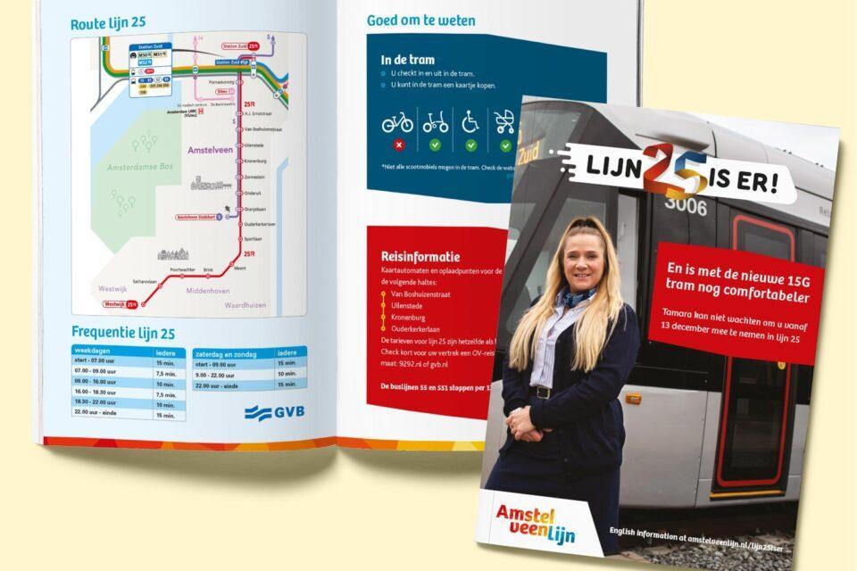Flyer opening Lijn 25 - Gemeente Amsterdam