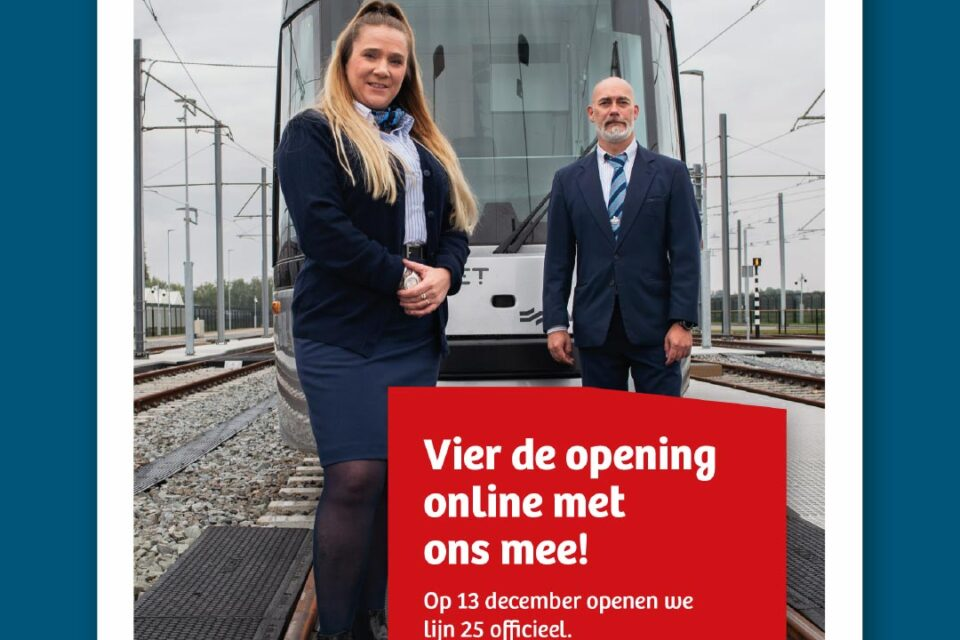krantenadvertentie opening Lijn 25 - Gemeente Amsterdam